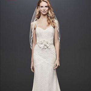 NWT Galina Lace Tank Sheath Ivory Wedding Dress